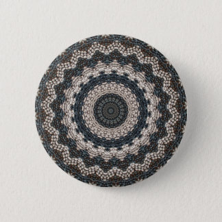 Greek pebble Mosaic from the Isle of Rhodes 6 Cm Round Badge