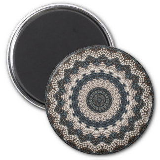 Greek Pebble Mosaics Contemporary Fine Art 6 Cm Round Magnet