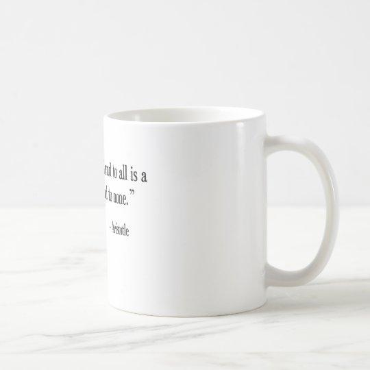Greek Philosopher Aristotle coffee cup