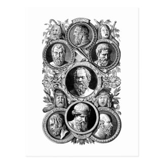 Greek Philosophers Postcard