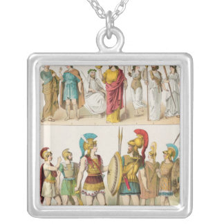 Greek Religious and Military Dress Silver Plated Necklace