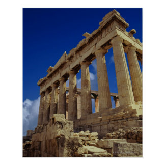 Greek ruins, Acropolis, Greece Poster