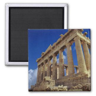 Greek ruins, Acropolis, Greece Square Magnet