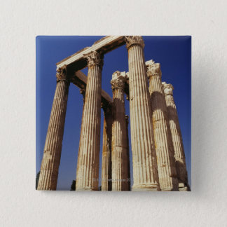 Greek ruins, Athens, Greece 15 Cm Square Badge