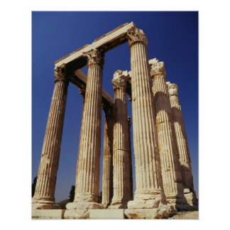 Greek ruins, Athens, Greece Poster