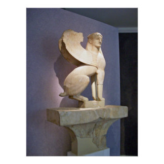 Greek Sacred Gate Marble Sphinx poster