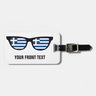 Greek Shades custom luggage tag