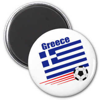 Greek Soccer Team 6 Cm Round Magnet
