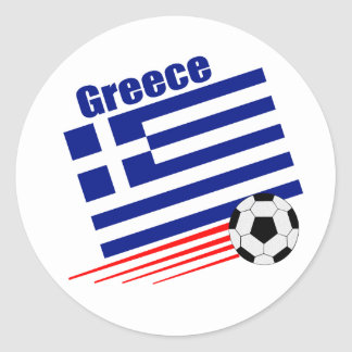 Greek Soccer Team Classic Round Sticker