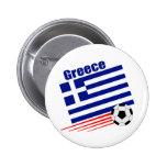 Greek Soccer Team Pinback Button
