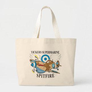 greek spitfire tote bags