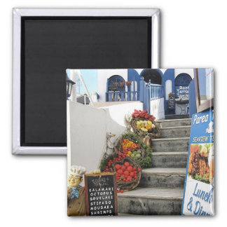greek tavern on Santorini Greece Fridge Magnets