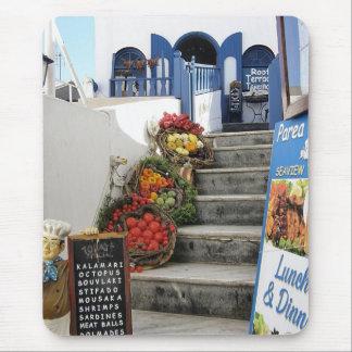 greek tavern on Santorini Greece Mouse Pads