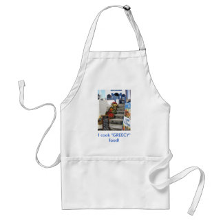 greek tavern on Santorini, Greece Standard Apron
