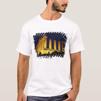 Greek Temple at Night with yellows and oranges T-Shirt