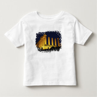 Greek Temple at Night with yellows and oranges Toddler T-Shirt