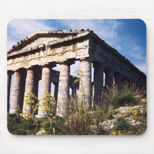greek temple mousepad