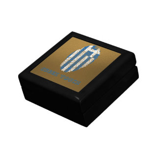 Greek touch fingerprint flag gift box