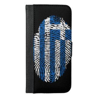 Greek touch fingerprint flag iPhone 6/6s plus wallet case