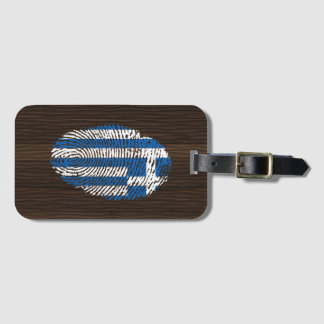 Greek touch fingerprint flag luggage tag