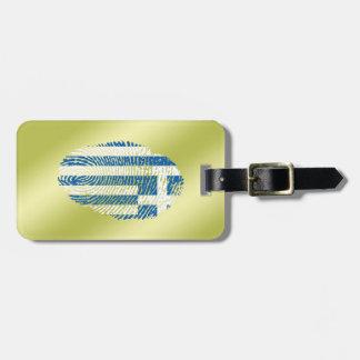 Greek touch fingerprint flag luggage tag