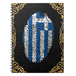 Greek touch fingerprint flag notebook