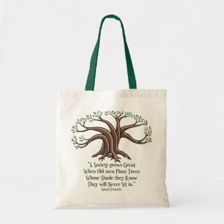 Greek Trees Budget Tote Bag