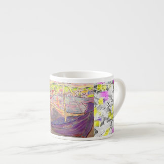 greek  village sunset drip 6 oz ceramic espresso cup