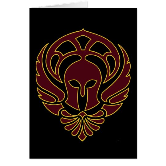 Greek Warrior Card