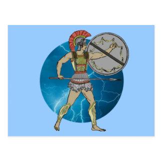 Greek Warrior Postcard