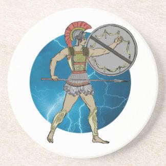 Greek Warrior Sandstone Coaster