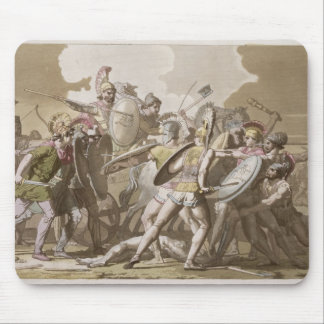 Greeks and Trojans Fight over the Body of Patroclu Mouse Mat