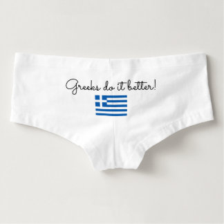 Greeks do it better funny quote womens underwear hot shorts