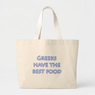 Greeks Have the Best Food Canvas Bag