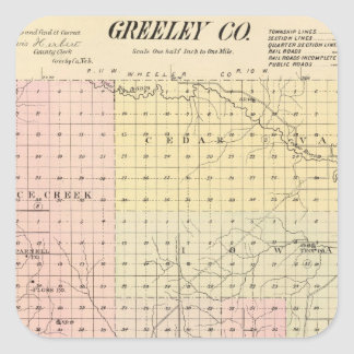 Greeley County, Nebraska Square Sticker