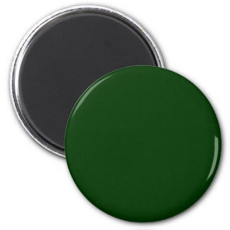 Green #003300 Solid Color 6 Cm Round Magnet