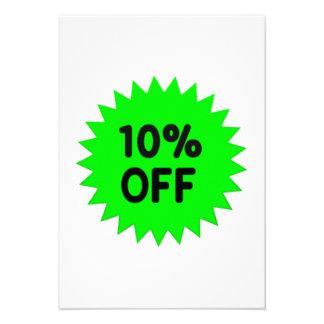 Green 10 Percent Off Personalized Invitations