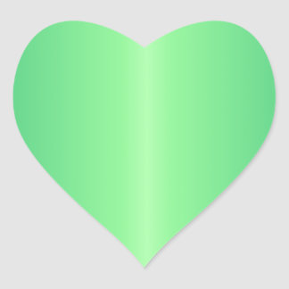 Green 1 - Mint Green and Shamrock Green Gradient Heart Sticker