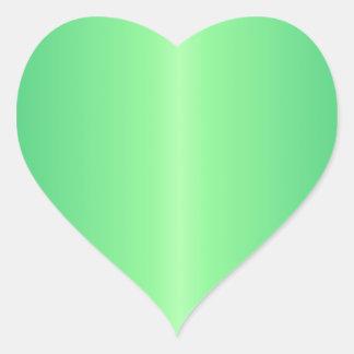 Green 1 - Mint Green and Shamrock Green Gradient Heart Sticker