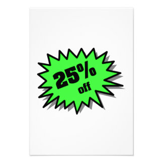Green 25 Percent Off Personalized Announcement