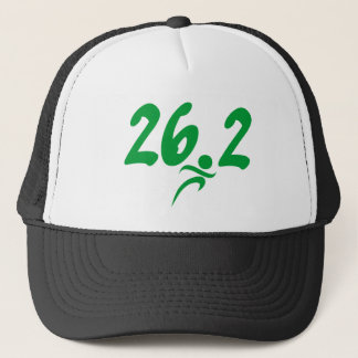Green 26.2 marathon trucker hat