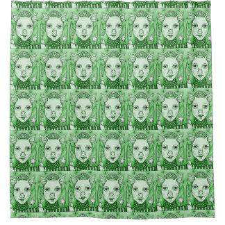 Green 2 Bacon Fairy Princess Shower Curtain
