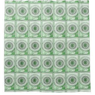 Green 2 Sunflower Shower Curtain
