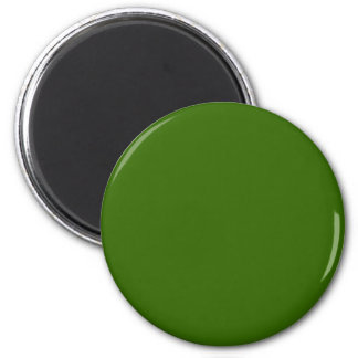 Green #336600 Solid Color 6 Cm Round Magnet
