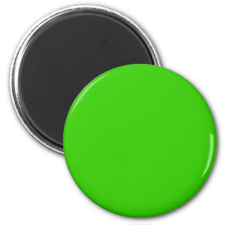 Green #33CC00 Solid Color 6 Cm Round Magnet