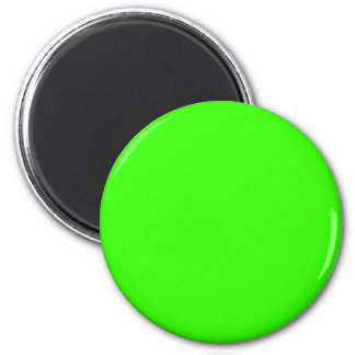 Green #33FF00 Solid Color 6 Cm Round Magnet