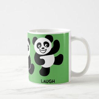 Green - 3 Happy Pandas Coffee Mug