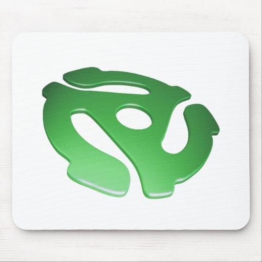 Green 3D 45 RPM Adapter Mouse Mats