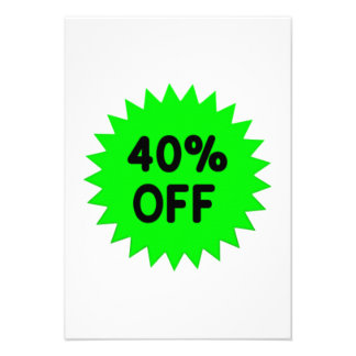 Green 40 Percent Off Personalized Announcements