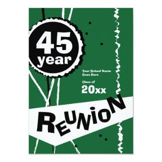Green 45 Year Class Reunion Invitation